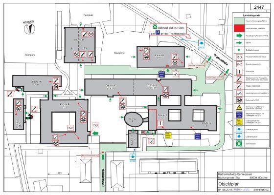 Brandschutz – Feuerwehr Objektplan
