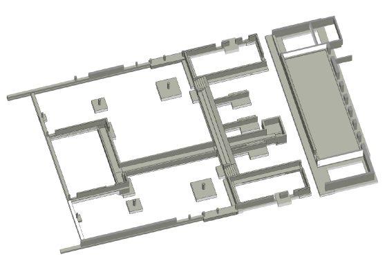 Auszug Tragwerksmodell Fundamente – abgeleitet aus dem BIM Modell in REVIT