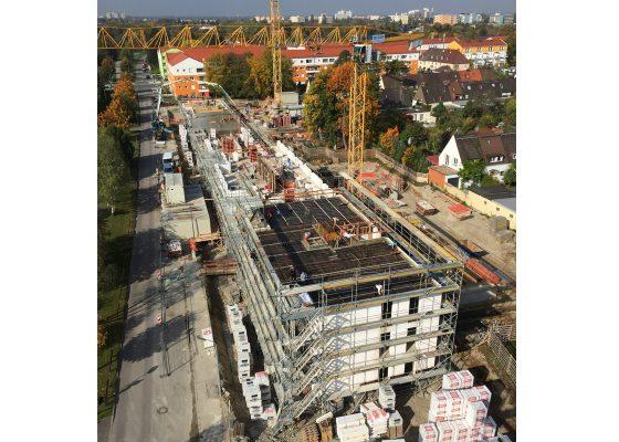 Harthof –Blick auf die Baufelder Harthof Bauteil 47 und 46 während der ingenieurtechnischen Kontrolle