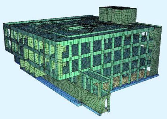Klinikum Schwabing, München – Haus 16.2: 3D-Berechnungsmodell – Auskragung