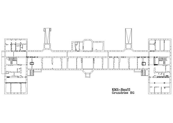Klinikum Schwabing Bettenhaus 6 – Grundriss EG