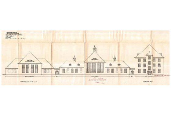 Klinikum Schwabing Haus 27 – Zeichnung Fassade historisch