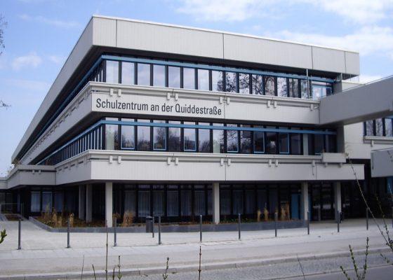 Quiddestraße Schulzentrum –Ansicht nach der Sanierung