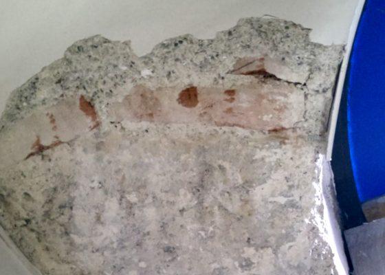 Ruffiniblock, Sendlinger Straße 1, München – Übergang gemauertes Gewölbe zu Pfeiler aus Granitblöcken