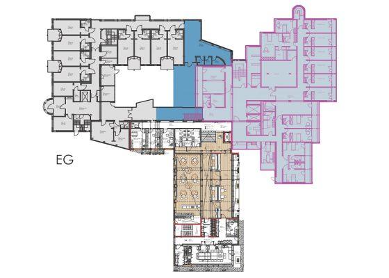 Seniorenstift Ismaning – Bestand 1989 bereits erstellter BA1 und Abbruch BA2
