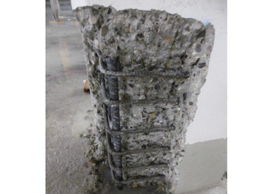 Elsenheimerstrasse Tiefgaragen – Abschnittsweiser Betonabtrag bei  einer Stütze