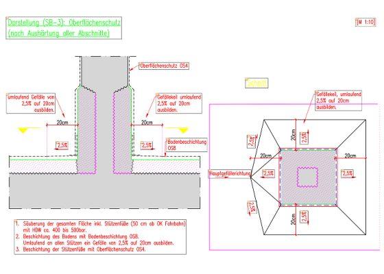 Elsenheimerstrasse Tiefgaragen – Ausführungsplanung Stützenausbildung