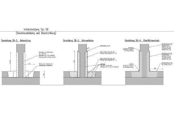 Grellstrasse Tiefgarage – Ausführungsplanung Stützenausbildung