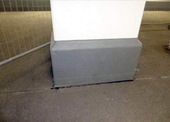 Martinsried Tiefgarage – Stütze mit Sockelverbreiterung nach der Sanierung