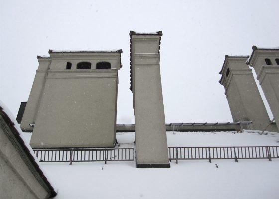 Feuerwache 1, München –Bewertung der Standsicherheit hoher Kamine