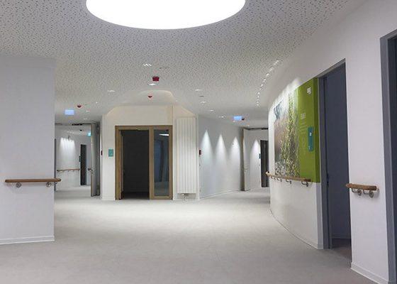 Neubau Pflegeheim, Föhrenpark München – Flur