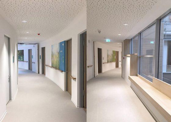 Neubau Pflegeheim, Föhrenpark München – Flure