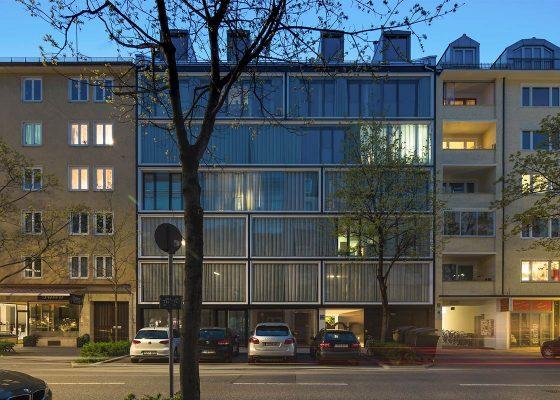 Augustenstraße – Wohngebäude Fassade